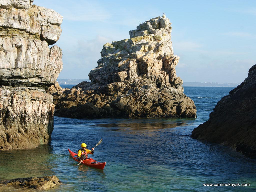 explorer en kayak de mer
