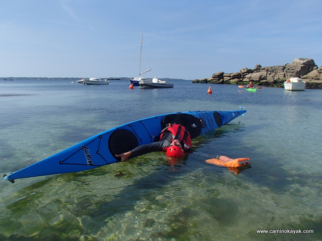 Equilibre et kayak de mer