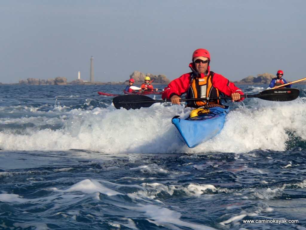 Surf et appuis en kayak de mer