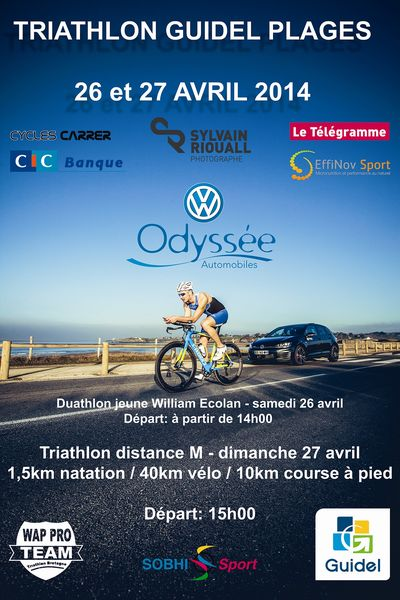 Triathlon de Guidel les 26 et 27 avril 2014