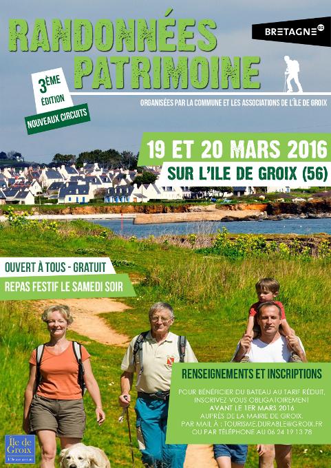 Groix – Les randonnées patrimoine 2016