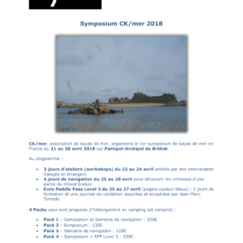 Symposium kayak de mer 2018
