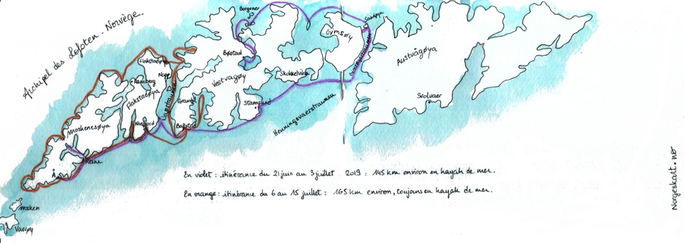 Carnet de Voyage kayak de mer - Norvège 2019